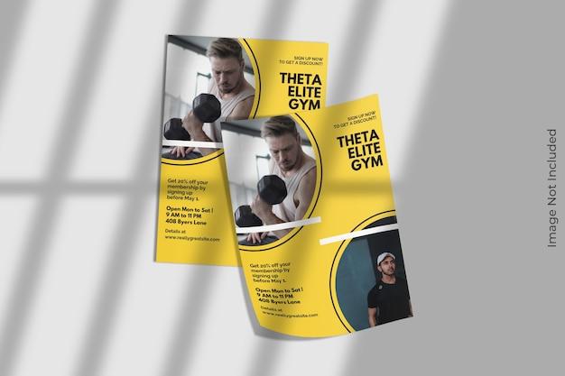 A4 flyer broschüre modell mit schatten