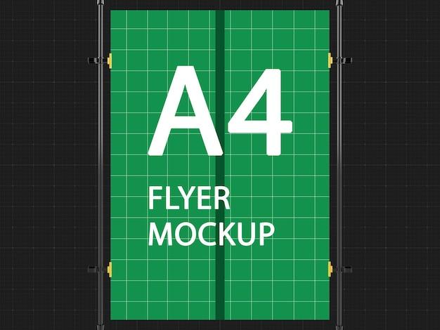 A4 flyer hängendes modell-design-rendering