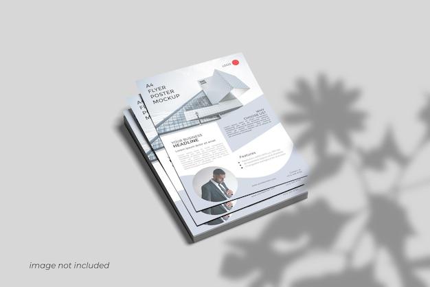 A4 flyer mockup design rendering