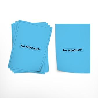 A4 flyer oder dokument mockup design
