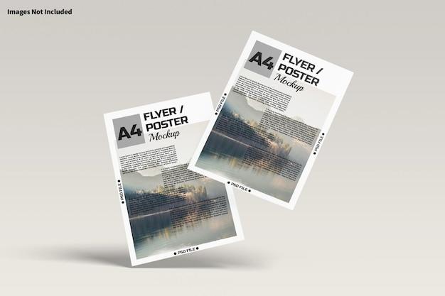 A4-flyer oder poster-modell