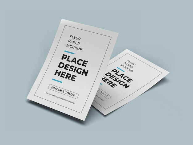 A4 flyer paper mockup