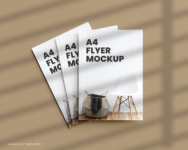 A4-flyermodell in 3d-rendering
