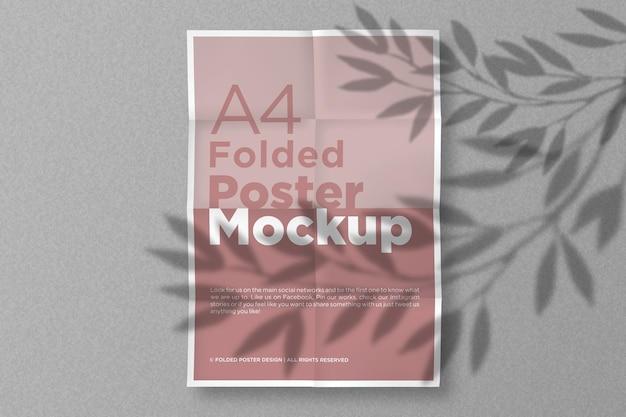 A4 gefaltetes papiermodell-design