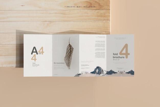 A4 größe vierfach broschüre mockup