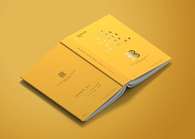 A4 hardcover buchmodell