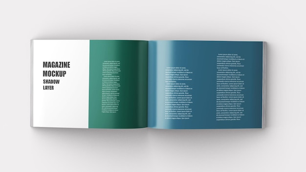 A4 landscape perfect binding broschüre mockup