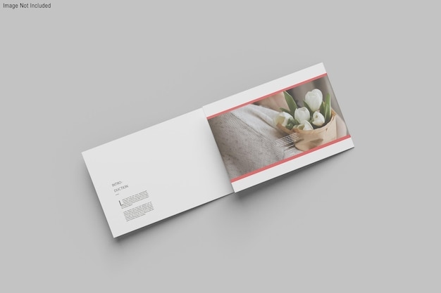 A4 landschafts-trifold-broschürenmodell