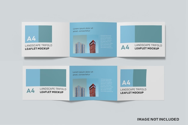 A4 lanscape trifold-modell