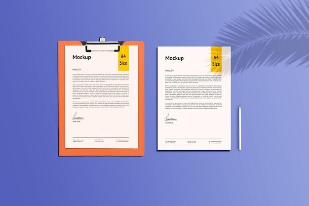 A4 modell für papier und zwischenablage