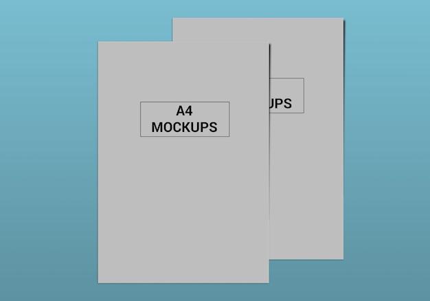 A4 page mockup für flyer, rechnung, briefkopf und andere