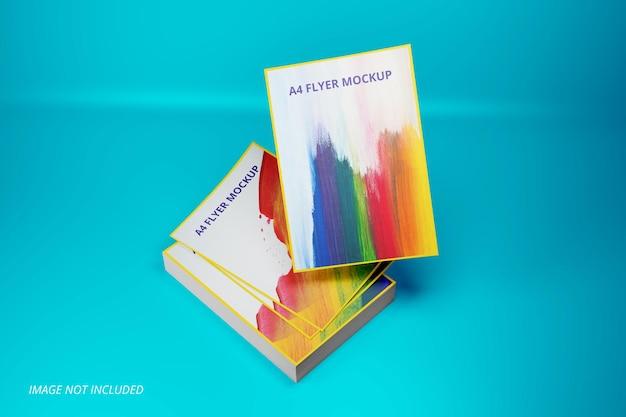 A4-papierblatt-modelldesign