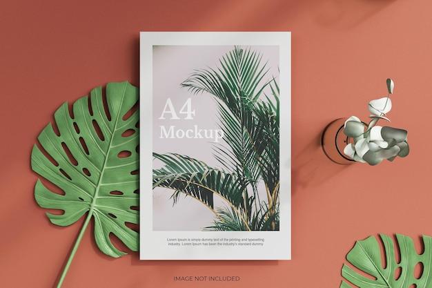 A4-poster, flyer oder briefkopfmodell