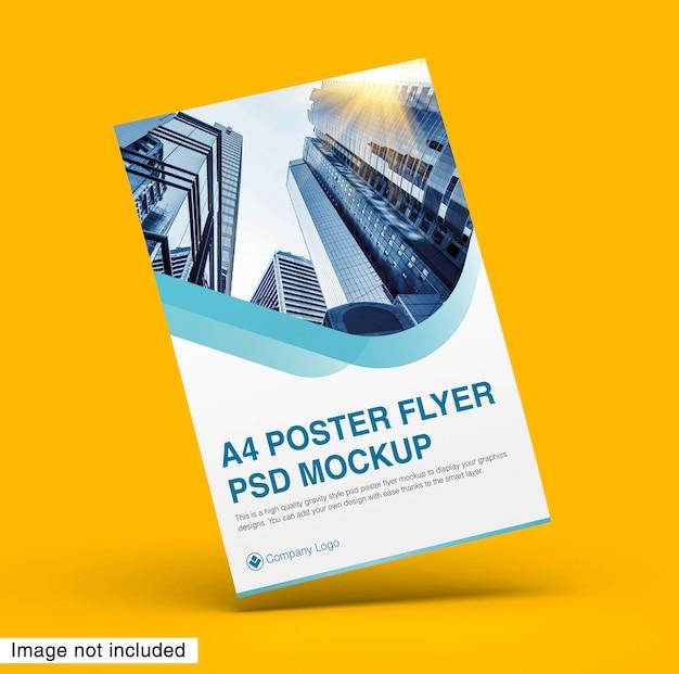 A4 poster flyer psd mockup