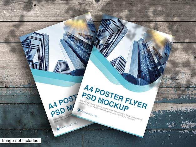 A4 poster flyer psd modell premium psd