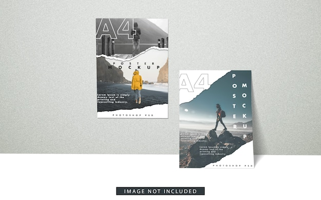 A4 poster modell vorderansicht