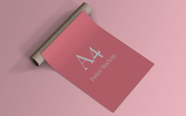 A4 poster modellablage mit rollkarton