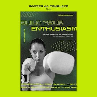 A4-poster-vorlage für fitnesstraining