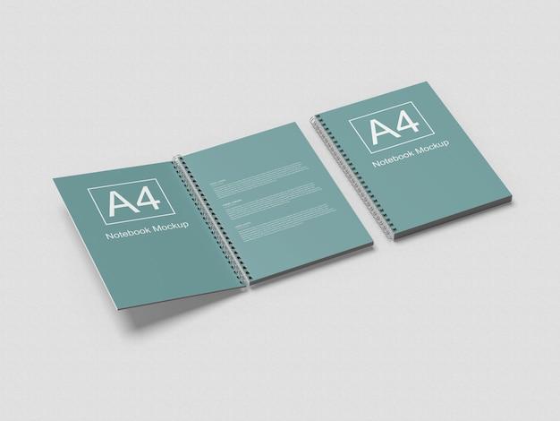 A4 spiral-notebook-modell