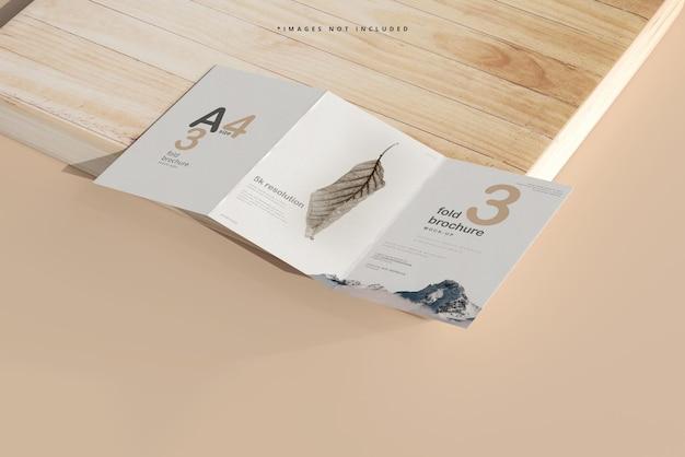 A4 trifold broschürenmodell
