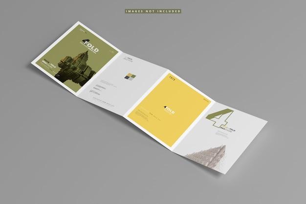 A4 vierfach-broschürenmodell