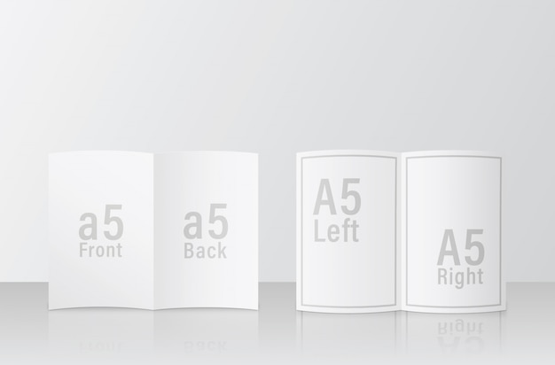 A5 broschürenmodell. 2 seite anderes gesicht einfach nützlich psd modell vorlage design. mockup-psd-datei im format a5 / a5