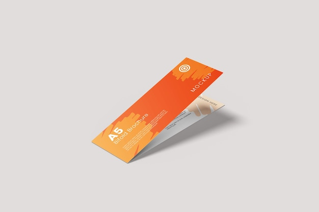 A5 langes bifold-broschürenmodell