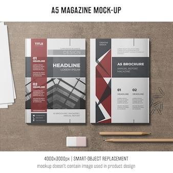 A5-magazin-modell von zwei