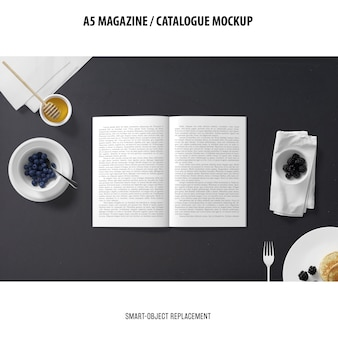 A5 magazine catalogue mockup