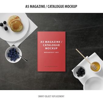 A5 magazine cover catalogue mockup