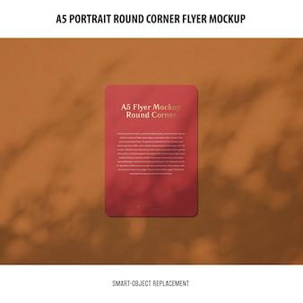 A5 round corner flyer modell Kostenlosen PSD