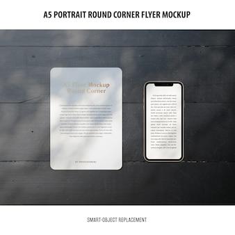 A5 round corner flyer modell