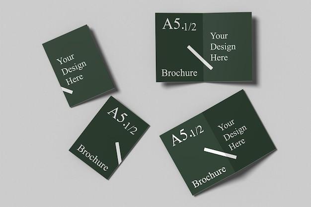 A6 bifold broschüre mockup