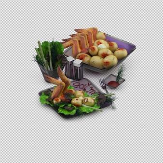 Abendessenplatte 3d übertragen