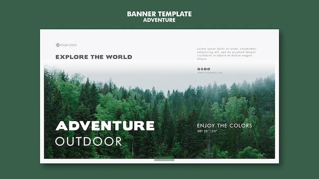 Abenteuer banner vorlage thema