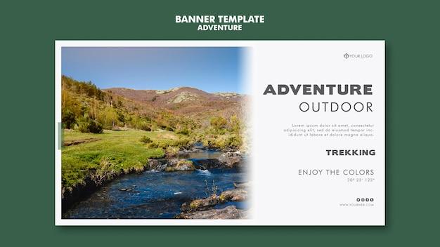Abenteuer banner vorlage
