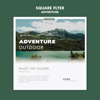 Abenteuer flyer vorlage design