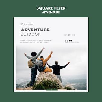 Abenteuer flyer vorlage konzept