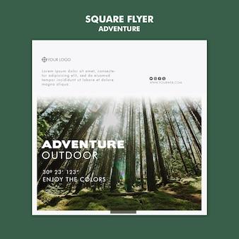 Abenteuer flyer vorlage thema