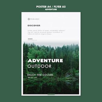 Abenteuer poster vorlage thema