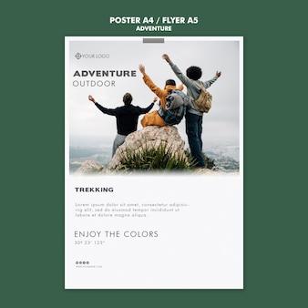 Abenteuer poster vorlage