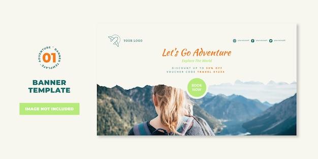 Abenteuer verkauf banner vorlage