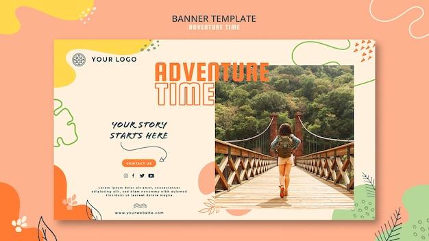 Abenteuer zeit banner vorlage