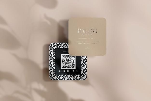 Abgerundete ecke quadrat visitenkarten modell