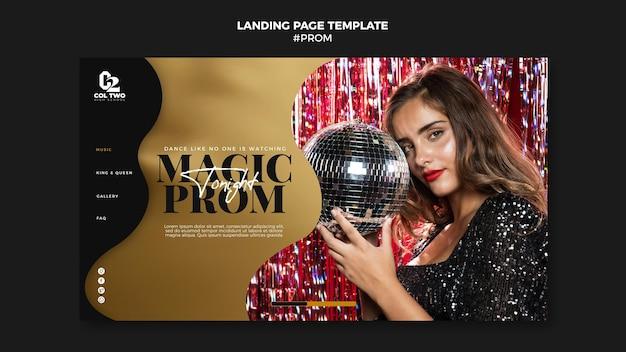 Abschlussball party landing page vorlage