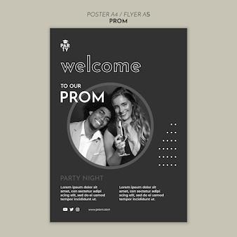 Abschlussball poster vorlage Premium PSD
