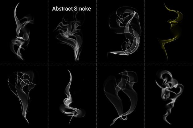 Abstrakte feuerflamme rauchen realistische effekte