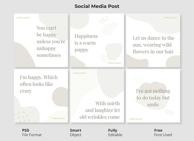 Abstrakte formen instagram post template banner mit vollständig bearbeitbaren psd