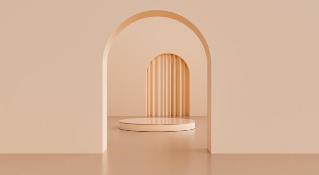 Abstrakte geometrische form 3d render scene product display