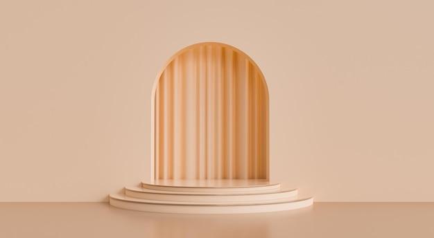 Abstrakte geometrische form minimaler hintergrund 3d render-szene mit wand
